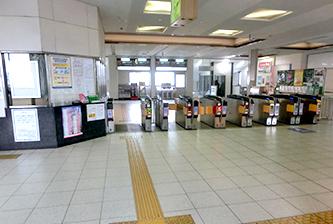 五位堂駅改札